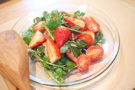 いちごとトマトのバルサミコ酢サラダ
