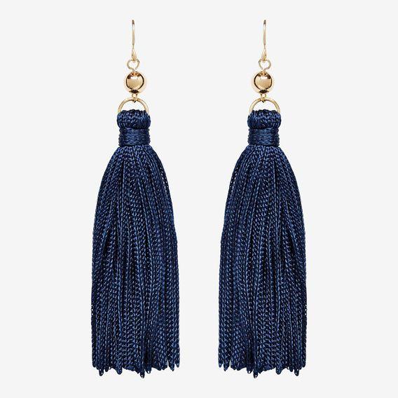 Tassel Earrings NAVY/GOLD