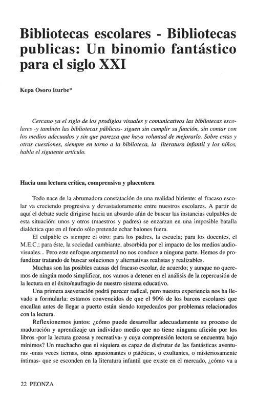 Peonza [Publicaciones periódicas] : Revista de literatura infantil y juvenil. Núm. 42-43, diciembre 1997 - Biblioteca Virtual Miguel de Cervantes