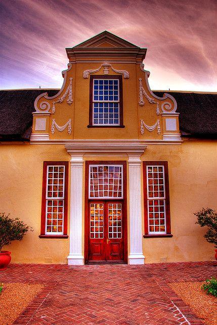 Cape Dutch gable, Vergelegen Wine Estate, South Africa.