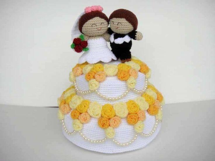 Matrimonio all'uncinetto - Torta all'uncinetto