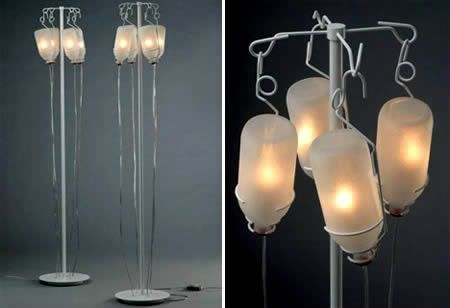Intravenous Fluids Lamp! How great would this be for a haunted house? Or, like, everyday...?