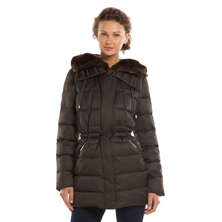 Women's Apt. 9® Hooded Trapunto Puffer Jacket