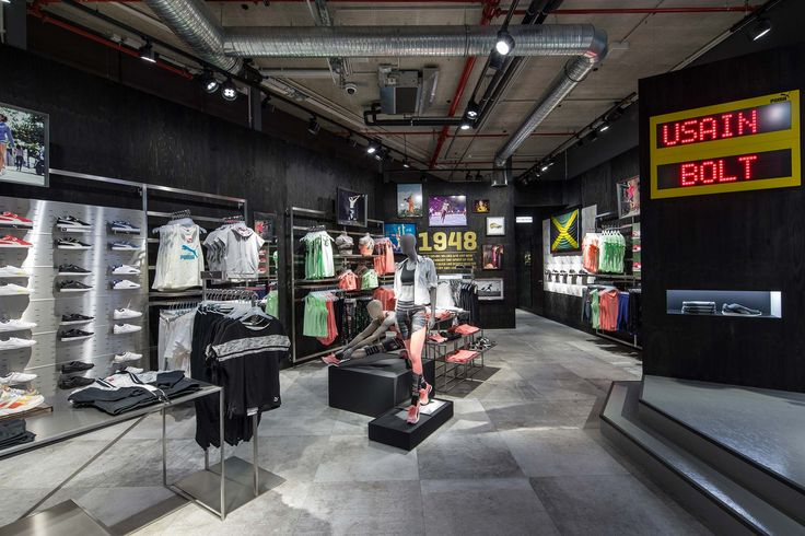 La Roche collection is the protagonist of PUMA Store in Herzogenaurach, Germany #retail #shop #floor #puma #sports