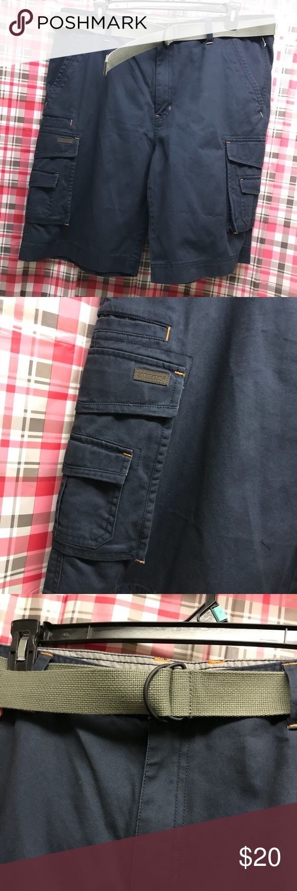 Smith's workwear size 40 cargo shorts w belt NWT Brand new with tags Smith's Workwear Shorts Cargo