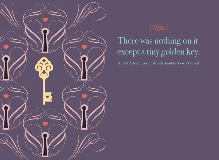 A Tiny Golden Key. Alice's Adventures in Wonderland designed by Chiara Aliotta.