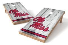 Ole Miss Rebels Single Cornhole Board - Vintage