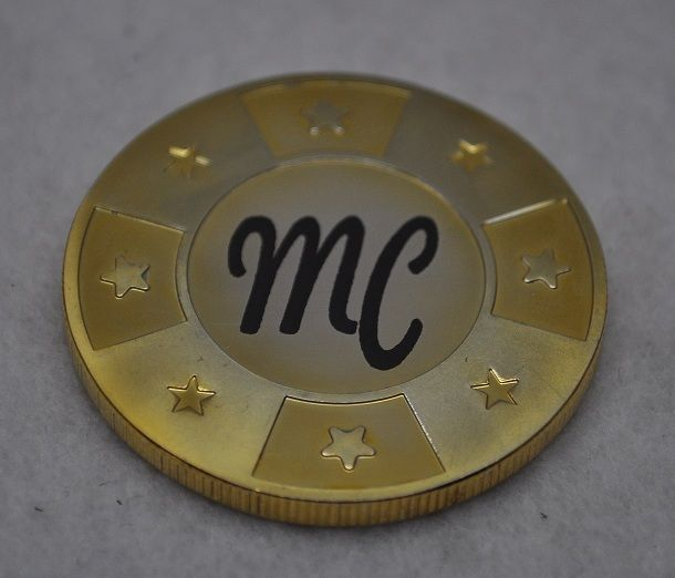 Make this poker chip card guard all your own.. Engrave with initials or a simple pic!