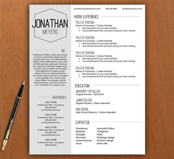 Best Resumes  Cv Templates Images On   Resume Script