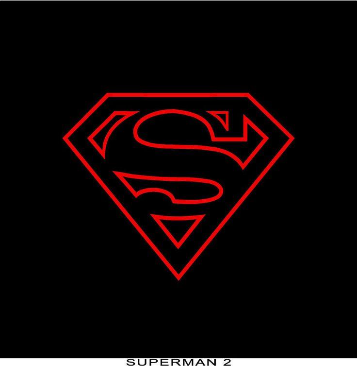 "SUPERMAN stickers 12.5""x10"" red vinyl decal #UnbrandedGeneric"