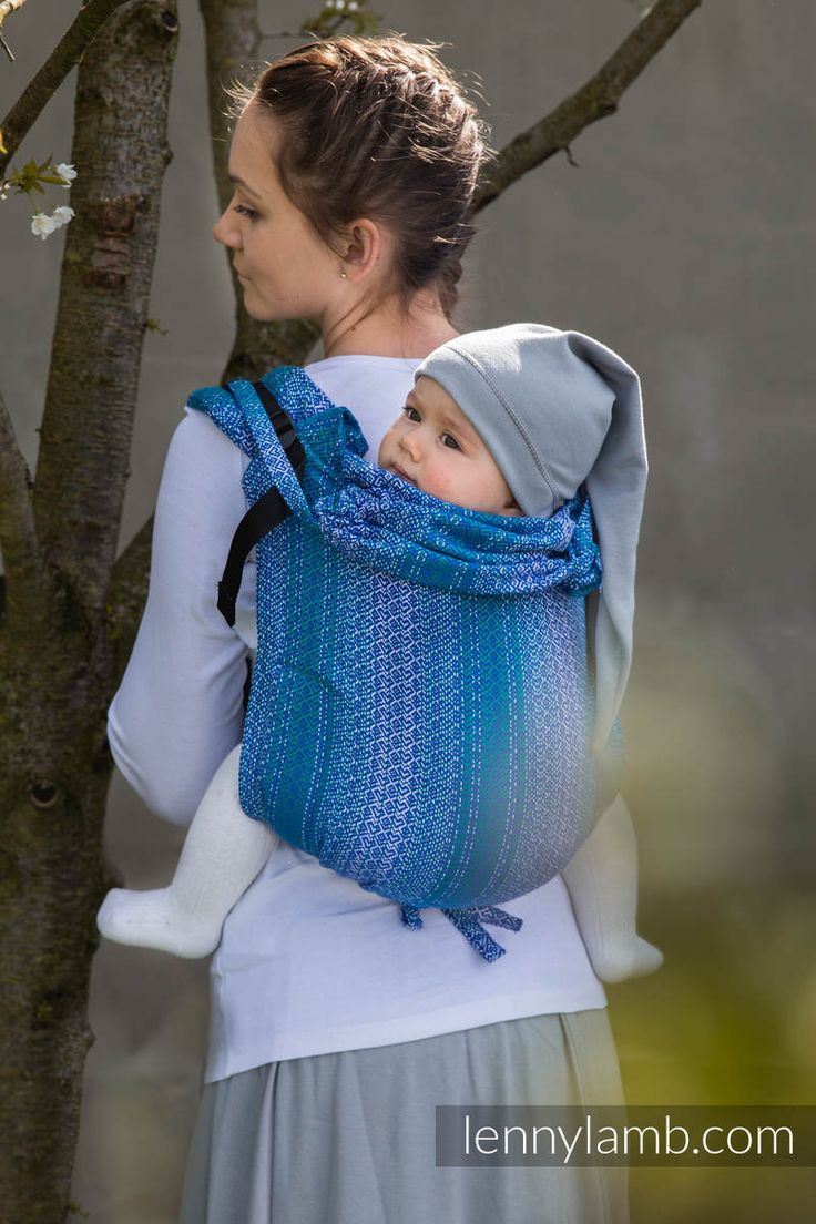 Lenny Buckle Onbu, standard size, jacquard weave (100% cotton) - Wrap conversion from LITTLE LOVE OCEAN