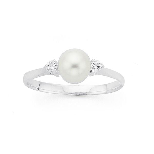 Silver Cultured Fresh Water Pearl