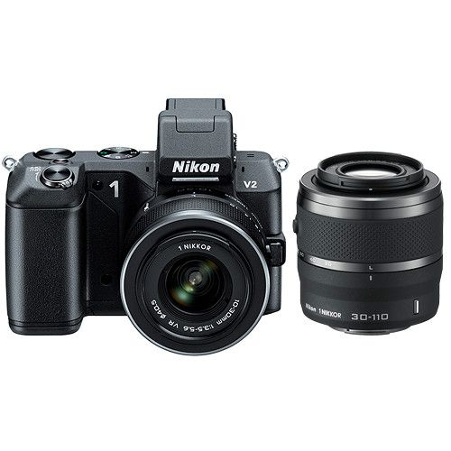 Electronic Bazaar NZ Offers Best Nikon 1 V2 Mirrorless Digital Camera with 1 NIKKOR VR 10-30mm f/3.5-5.6 and 30-110mm f/3.8-5.6 Lens Kit
