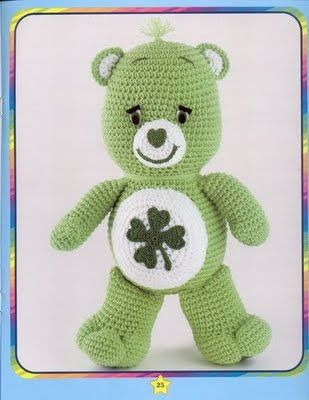 Free pattern. Includes lots of tummy symbols so you can make the Care Bear you want :)