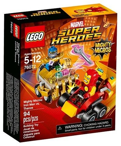 LEGO® Super Heroes Mighty Micros: Iron Man vs. Thanos 76072