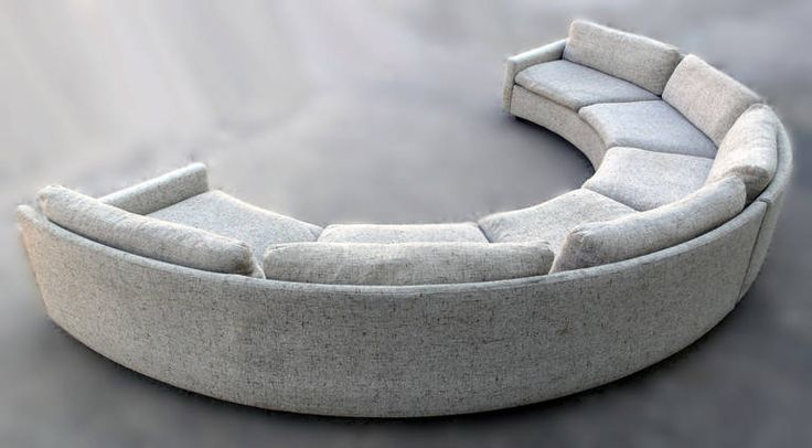 Milo Baughman Semi-Circular Party Sofa | From a unique collection of antique and modern sectional sofas at https://www.1stdibs.com/furniture/seating/sectional-sofas/