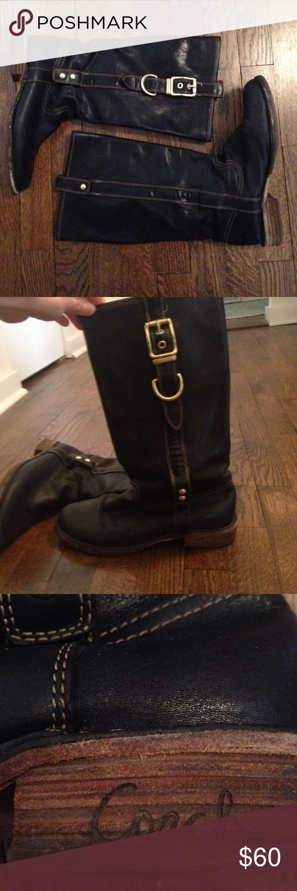 coach rain boots outlet z42b  Great Condition Black Coach Boots
