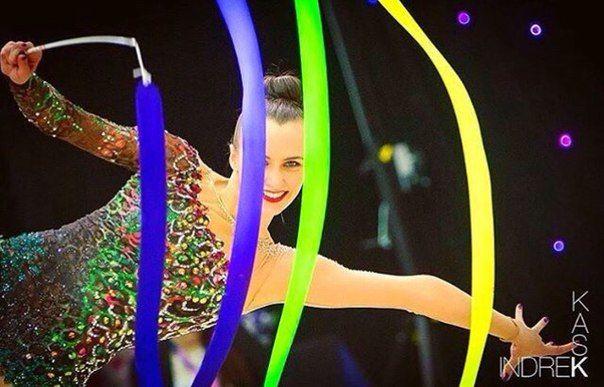 Ganna Rizatdinova (Ukraine) got 18.483 points for RIBBON in all-around finals at…