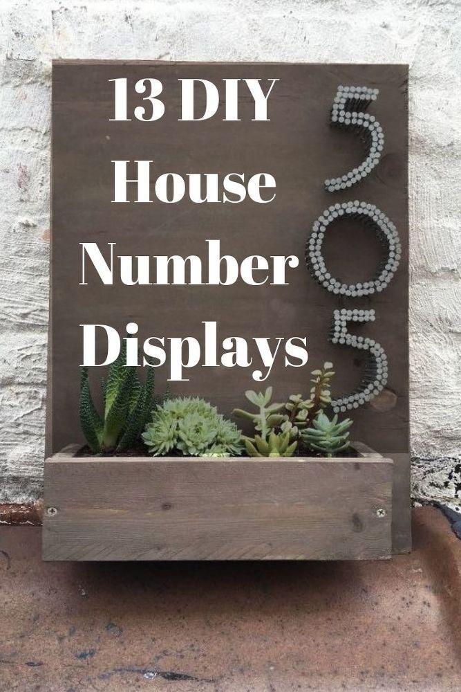 13 Spectacular Ways To Display Your House Number Home Diy Diy