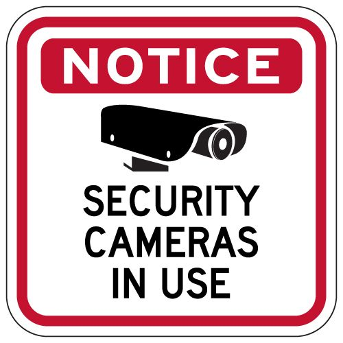 graphic regarding Video Surveillance Signs Printable named Focus Stability Cameras Inside Hire Indicator - 12x12 Digital camera-Video clip