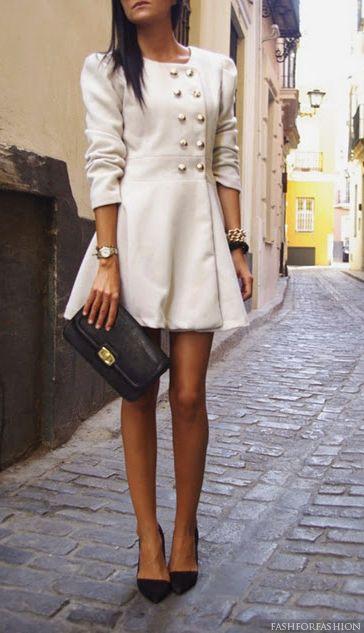 Chic White Coat