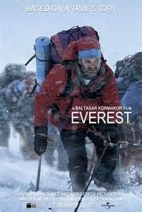 A 2015 American 3D disaster thriller film  based on the real events of the 1996 Mount Everest disaster and bestselling non-fiction novel Into Thin Air: A Personal Account of the Mt. Everest Disaster by Jon Krakauer. There were two expedition groups each led by Scott Fischer and Rob Hall, who tried to climb the mountain.