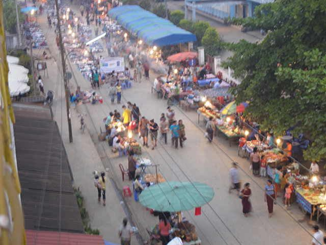 Looking down on the markets #Laos