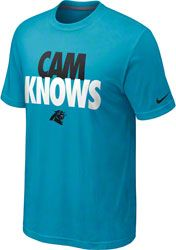 "Cam Newton Carolina Panthers Blue Nike ""Cam Knows"" T-Shirt"