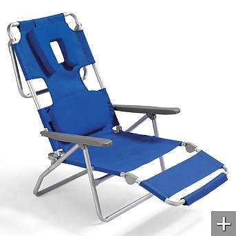 Facedown Beach Lounger - Frontgate.com - the perfect tanning lounge chair!!