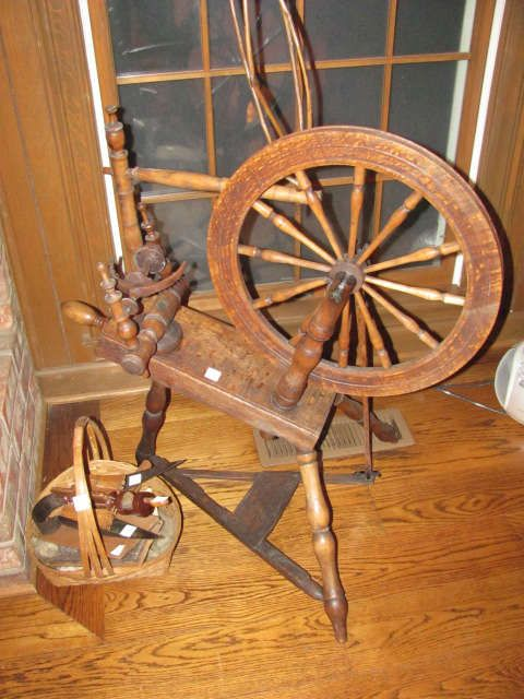 Antique Spinning Wheel Estate S Mall Treasures Yarn Winder