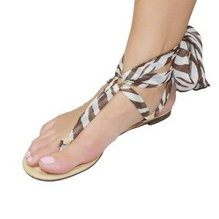 Shutini's African Goddess Strap features a long, patterned strap made out of luxurious chiffon.  On #sale for $9.95. #shoes