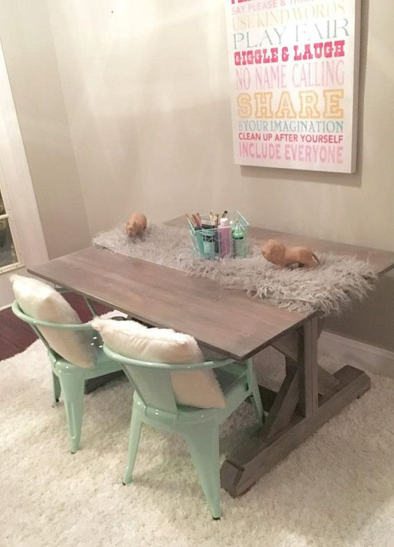 kids farmhouse table custom made to order by suburbanrustic