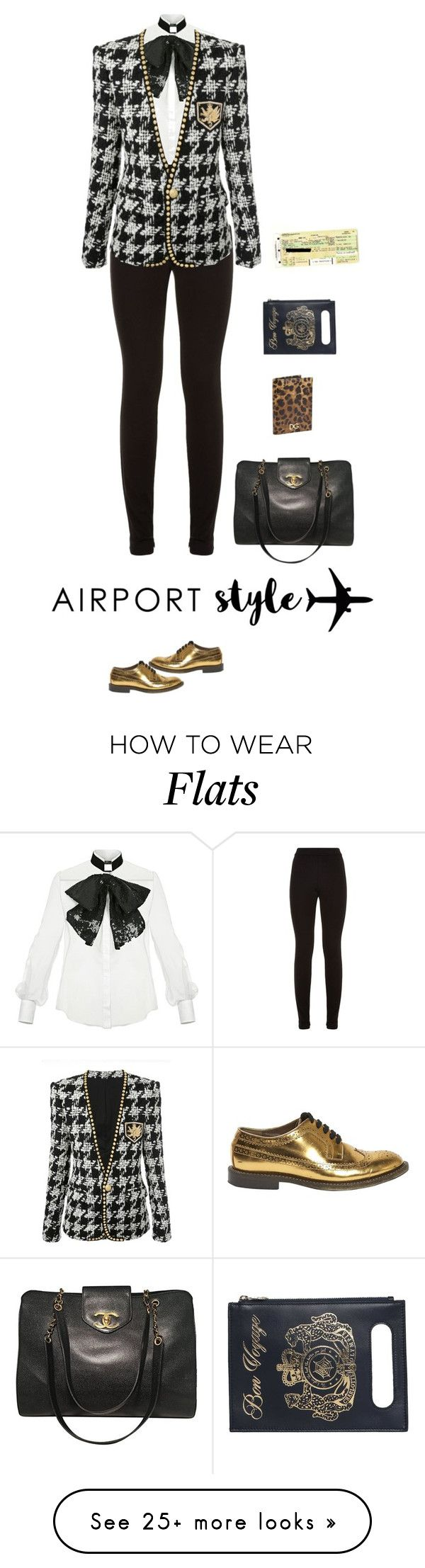 """Travel"" by andreearaiciu on Polyvore featuring Elisabetta Franchi, Theory, Charlotte Olympia, Marni, Dolce&Gabbana, Chanel and Plane"