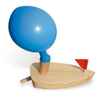 Bateau Ballon pour le bain / Wooden boat and balloon for bath