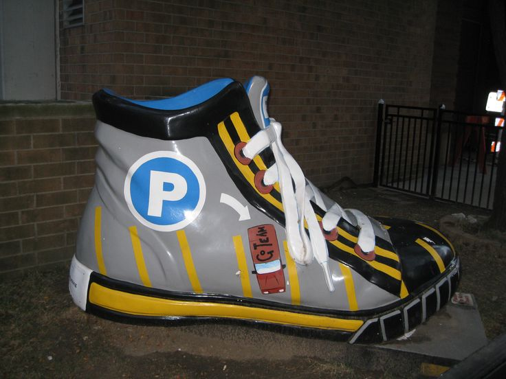 """Category: MOST OFFBEAT OR UNUSUAL """"Denison Parking Sneaker"""" by Barbara Chance, Ph.D., CHANCE Management Advisors, Inc."""