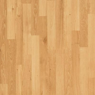 Mohawk Natural Oak 3-Strip 7 mm Thick x 7-1/2 in. Wide x 47-1/4 in. Length Laminate Flooring (19.63 sq. ft. / case)-HCL10-09 - The Home Depot