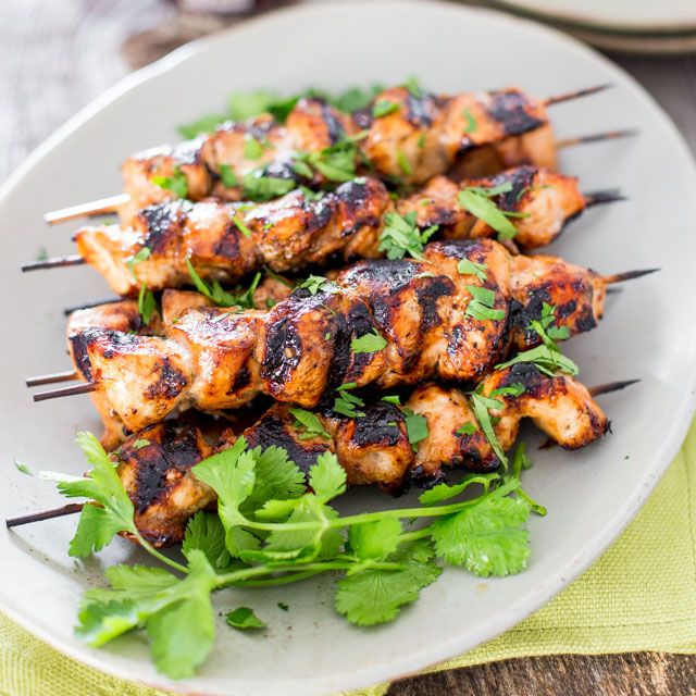 Incredibly delicious Beer and Honey BBQ Chicken Skewers - Perfect for a weekend or even a busy week night. Just prepare the night before, let marinate overnight and grill when ready.