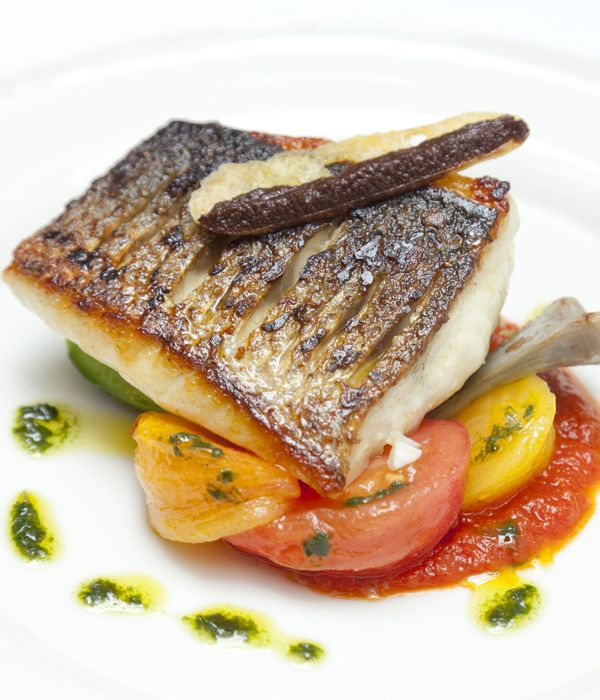 William Drabble shares his sunny Mediterranean sea bass recipe, inspired by his travels in the region.