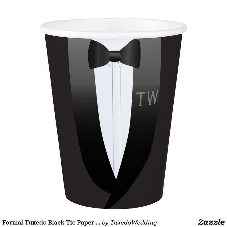 Formal Tuxedo Black Tie Paper Cup