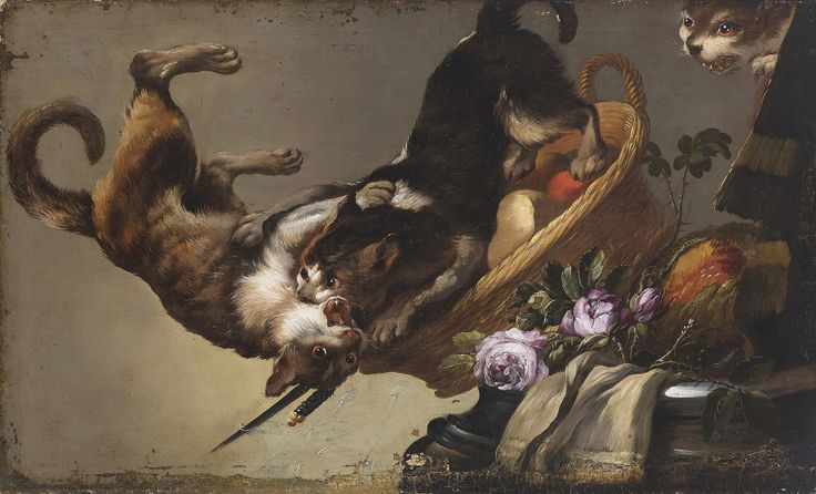 https://flic.kr/p/qCRu1g | Workshop Snyders. Fight cats | Dutch and Flemish Still Life Painting (Art Paintings):