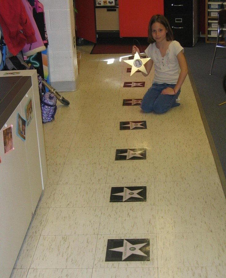 """after they've been the celebrity of the week, add them to the """"walk of fame"""""""