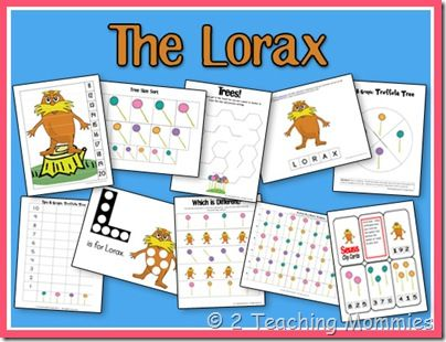 The Lorax & other Dr. Seuss preschool & toddler printables