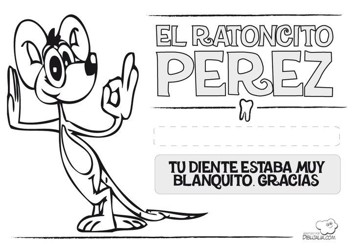 Tarjeta felicitación Ratoncito Pérez