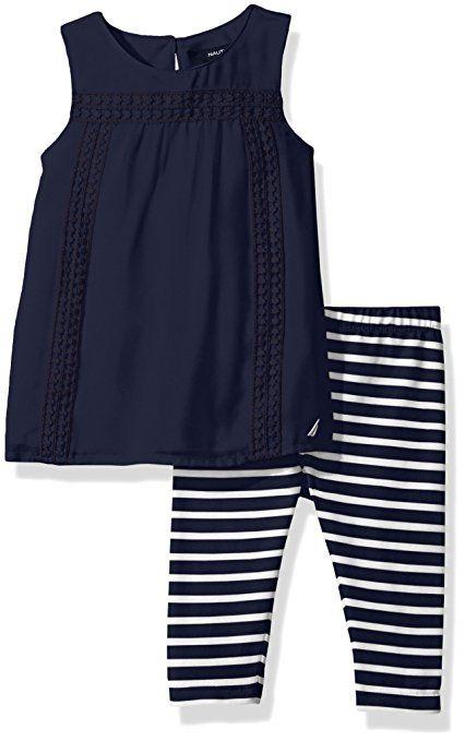 2a7adede6ebba Amazon.com: Nautica Baby Girls' Fashion Top With Capri Legging Set: Clothing