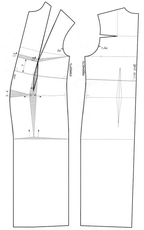 построение-выкройки-платья-для-беременных