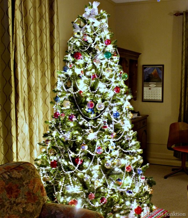 Christmas Tree with clear lights