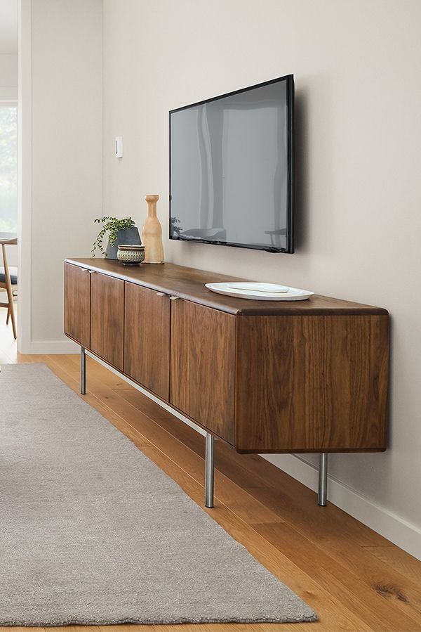walnut cabinet entertaining environmental media cabinets bdi octave collection toasted