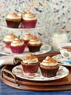 #Chocolate and coffee altogether in a #cupcake! Perfect for Mother's Day, and Father's Day too! #cake #baking To view the #CADBURY product featured in this recipe visit https://www.cadburykitchen.com.au/products/view/bournville-cocoa/