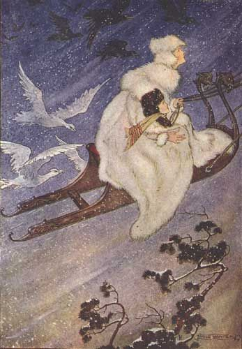 Hans Andersen's Fairy Tales. The Snow Queen Illustration by Milo Winter.