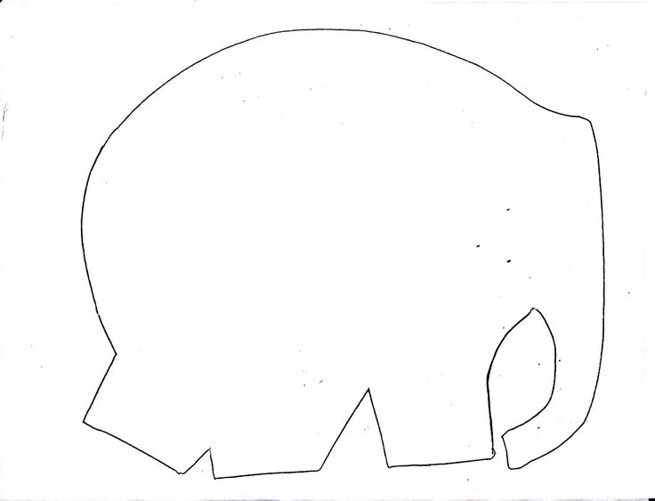 Metamora community preschool elmer the elephant beg of for Elephant template for preschool